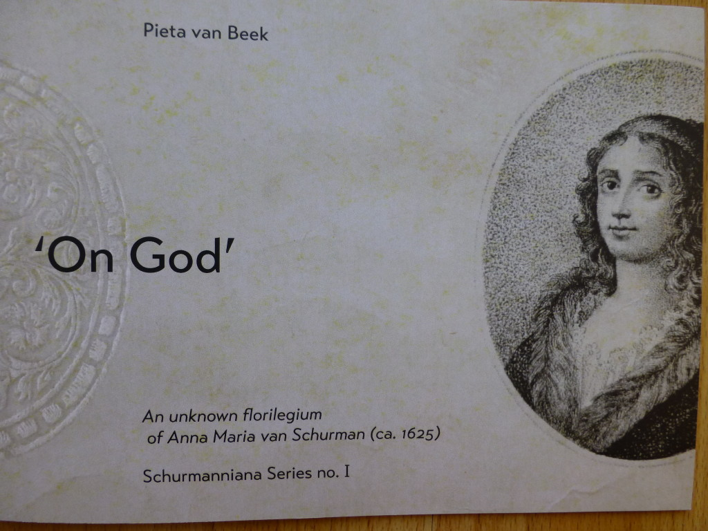 'On God' an unknown florilegium  of Anna Maria van Schurman (ca. 1625)